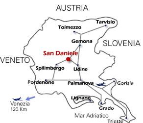 Mappa del Friuli