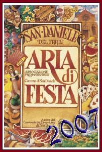 Locandina ufficiale di Aria di Festa, festa del Prosciutto Crudo di San Daniele del Friuli